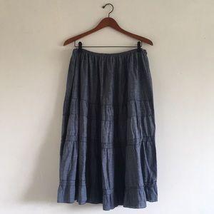Chambray Prairie Skirt
